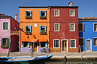 Italy, Venice, Colourful houses and sleepy canal on Burano island - HSIF000232