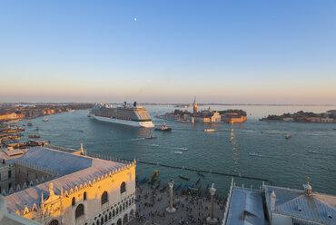Italy, Venice, View of Canal Grande, St Mark's square and San Giorgio Maggiore island - HSI000183