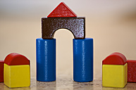 Close up of building blocks - MH000151