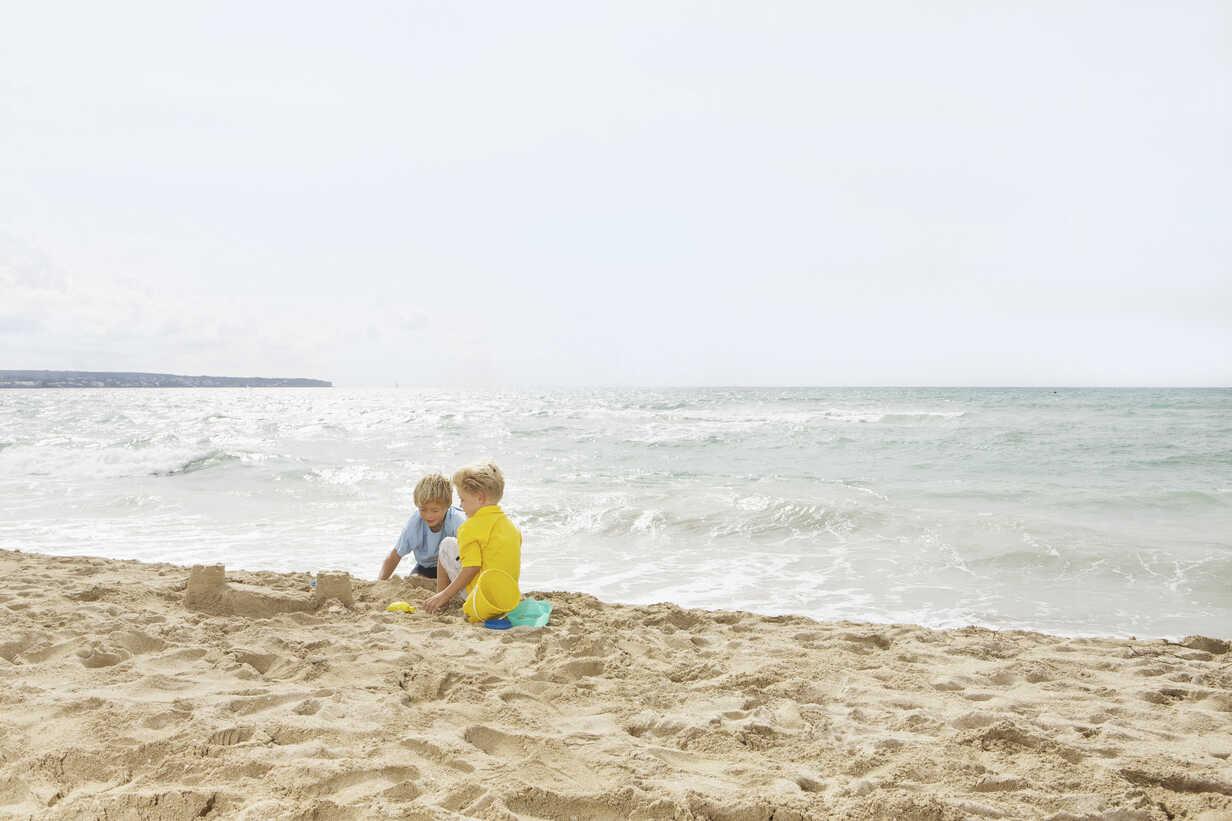 Spain Boys Playing On Beach At Palma De Mallorca Skf001167 Carlos Hernandez Westend61