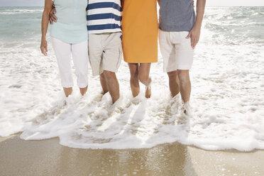 Spain, Family on beach at Palma de Mallorca - SKF001175