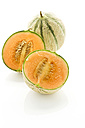 Sugar melons on white background, close up - MAEF006308