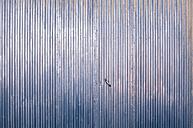 Spain, Blue garage door, close up - WVF000382