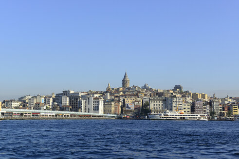 Turkey, Istanbul, View of Galata Bridge and Galata Tower, Beyoglu at Golden Horn - LH000023