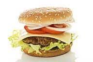Hamburger on white background, close up - MAEF006495