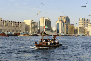 United Arab Emirates, Dubai, View of dhow in Dubai creek - LH000057