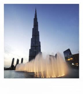 United Arab Emirates, Dubai, View of Burj Khalifa tower - LH000062
