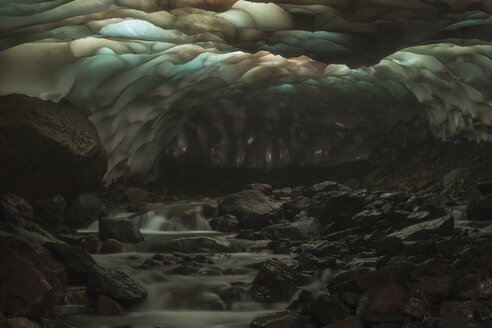 Russia, View of Ice cave at Kamchatka - RM000514