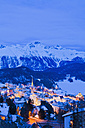 Switzerland, View of St Moritz townscape - WDF001707