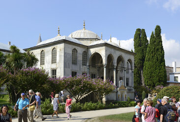 Turkey, Istanbul, View of Library of Sultan Ahmed III at Topkapi palace - LH000067