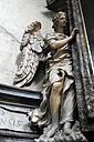 Italy, Rome, Statue of angel at Santa Maria del Popolo - MIZ000325