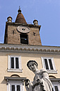 Italy, Rome, Statue in front of church of Santa Maria del Popolo - MIZ000328