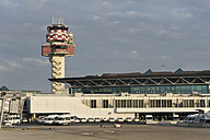 Italy, Rome, Control tower at Fiumicino Airport - MIZ000342