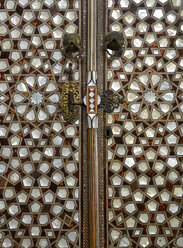 Turkey, Istanbul, Mother of Pearl Ornamented door at Harem in Topkapi Palace - LH000082