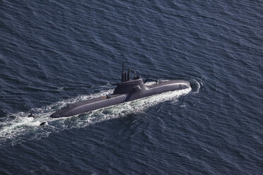 Germany, View of submarine in sea - FB000043