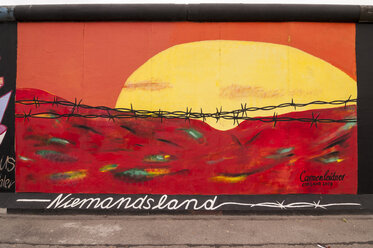 Germany, Berlin, Mural painting of No Man's Land on Berlin wall - CB000035