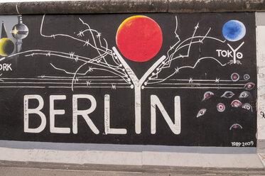 Germany, Berlin, Mural painting on Berlin wall - CB000029