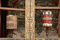 Bhutan, Prayer wheels at Trongsa dzong - HL000141