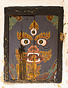 Bhutan, Painting on wood at Tamshing temple - HL000143
