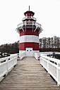 Germany, View of lighthouse at Hafendorf Rheinsberg - ND000395