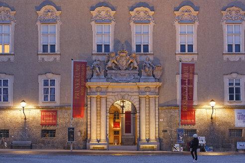 Austria, Salzburg, Entrance of old residence - SIE003636