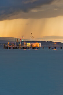 Germany, Ferry jetty at Lake Constance - SH000677
