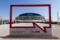 Germany, Berlin, City ad campaign in front of O2 World - CB000061