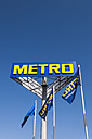 Germany, Berlin, Logo and flags of Metro Cash and Carry - CB000064