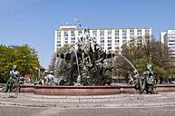Germany, Berlin, Neptunbrunnen fountain at Alexanderplatz square - CB000067
