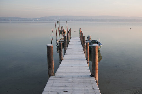 Germany, Baden Wuerttemberg, Jetty on Lake Constance - BSTF000056
