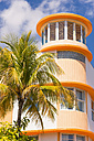 USA, Florida, Miami Beach, View of Room Mate Waldorf Tower at Collins Avenue - ABAF000848