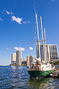 USA, Florida, Miami, View of sailing boat at port - ABA000864