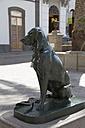 Spain, Statue of canary dog at Plaza Santa Ana - MAB000051