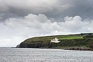 United Kingdom, Scotland, View of Dunbeath Castle on North Sea coast - EL000116