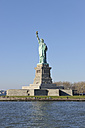 USA, New York State, New York City,  View of Statue of Liberty at Liberty Island - RUEF001037