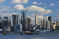 USA, New York State, New York City, View of Manhattan with Hudson river - RUEF001062