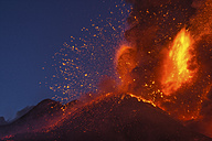 Italy, View of  Lava erupting from Mount Etna - RM000619