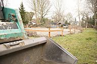 Germany, Brandenburg, Digger at construction site - FK000180
