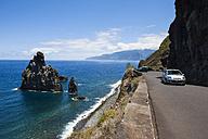 Portugal, Madeira, View of rock formations Ilheus da Rib on cliffs of Ribeira da Janela - AM000174