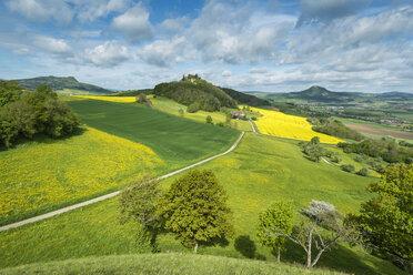 Germany, Baden Wuerttemberg, View of Hegau landscape in spring - EL000150