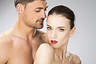 Young couple falling in love, close up - MAEF006706