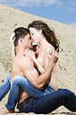 Germany, Bavaria, Young couple falling in love - MAEF006724
