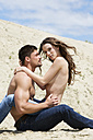 Germany, Bavaria, Young couple falling in love - MAEF006726