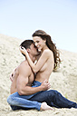 Germany, Bavaria, Young couple falling in love - MAEF006731
