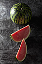 Watermelon on textile , close up - CSF019331