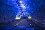 Norway, Blue light in Laerdal tunnel - HWO000003
