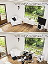 Germany, North Rhine Westphalia, Interior of house before and after burglary - ONF000208