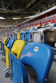 Germany, Dusseldorf, Soccer stadium seats - JAT000082