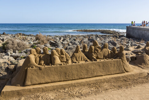 Spain, View of sand sculpture at Maspalomas - MAB000101