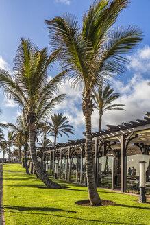 Spain, View of Lopesan Restaurant and shopping center at Maspalomas - MABF000105